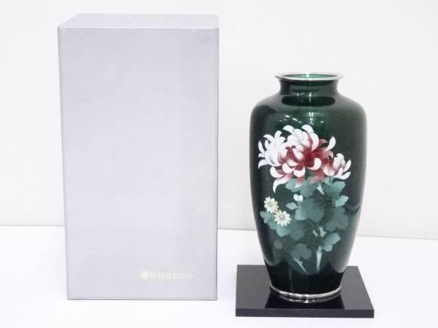 安藤七宝店造 七宝菊文花瓶