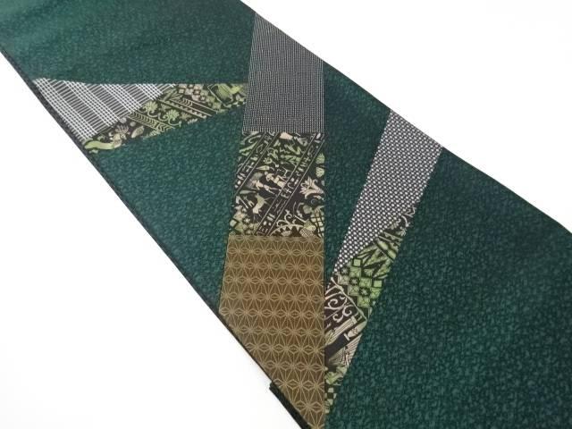 切りばめ古代人物模様袋帯【リサイクル】【中古】