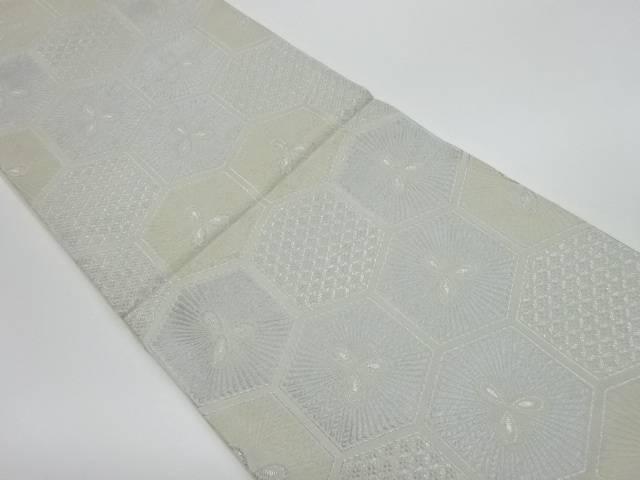 合計3980円以上の購入で送料無料 未使用品 亀甲模様織出し全通袋帯 安売り リサイクル 中古 SALE開催中