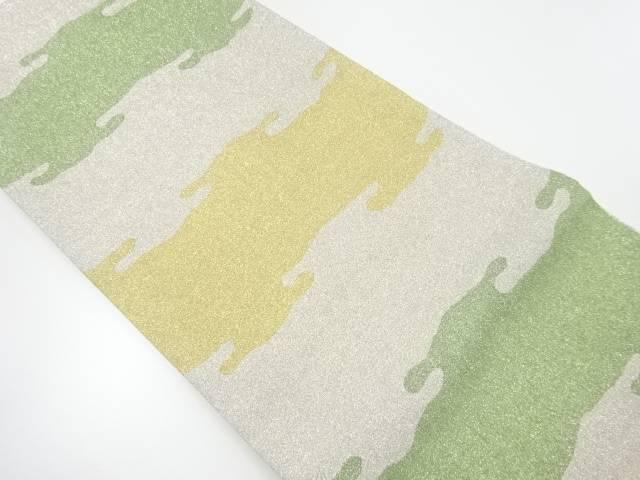 綴れ霞模様織出し袋帯【リサイクル】【中古】