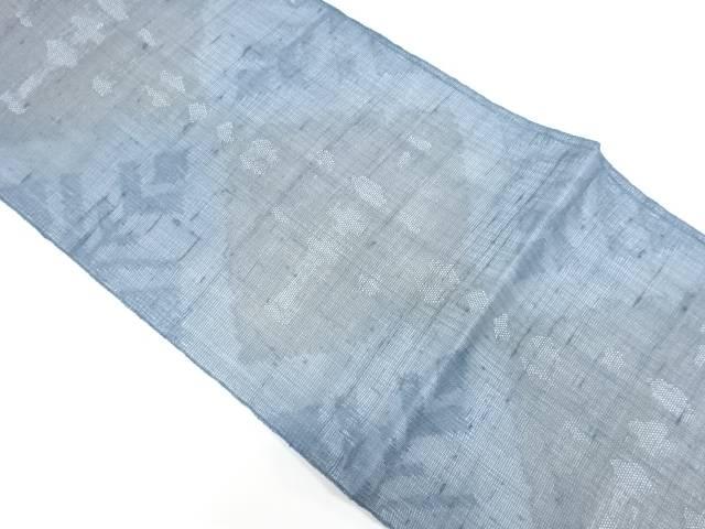 紗 紬幾何学模様織出し全通袋帯【リサイクル】【中古】