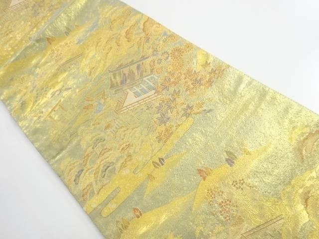 本金厳島神社模様織出しリバーシブル袋帯【リサイクル】【中古】