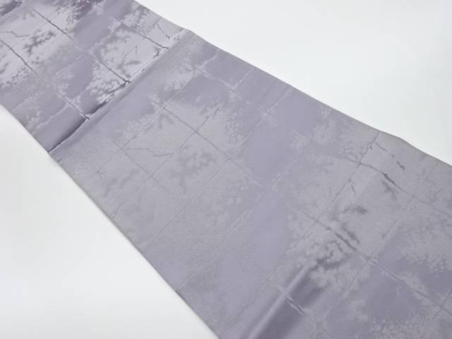 未使用品 箔鏡詩石畳模様織出しリバーシブル全通袋帯【リサイクル】【中古】
