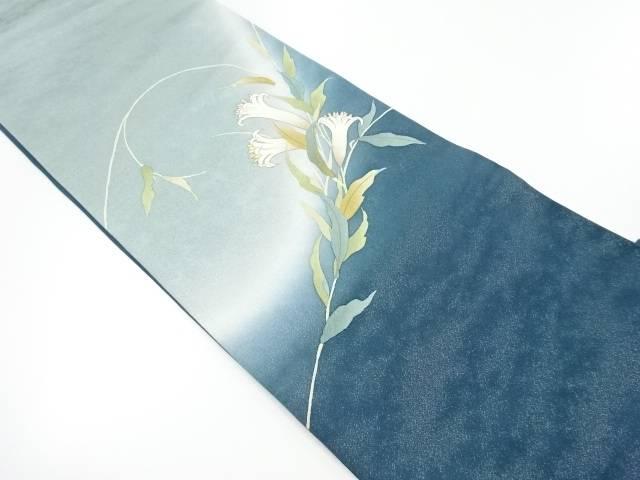 手描き花模様袋帯【リサイクル】【中古】