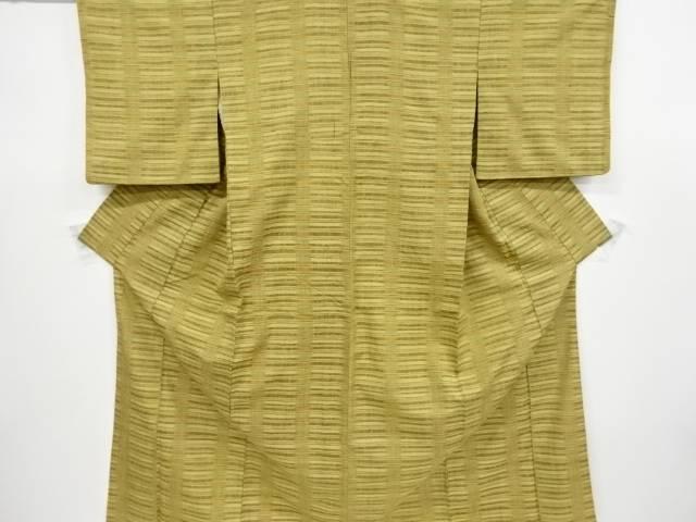 草木染郡上紬横段織り出し着物【リサイクル】【中古】