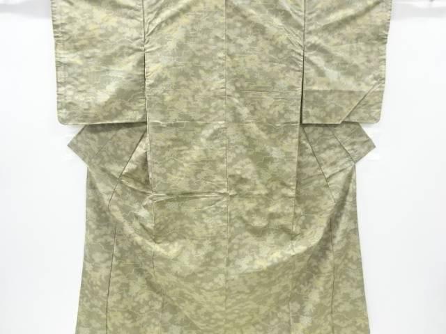 合計3980円以上の購入で送料無料 雲に草花模様織り出し西陣お召着物 NEW リサイクル 中古 オリジナル