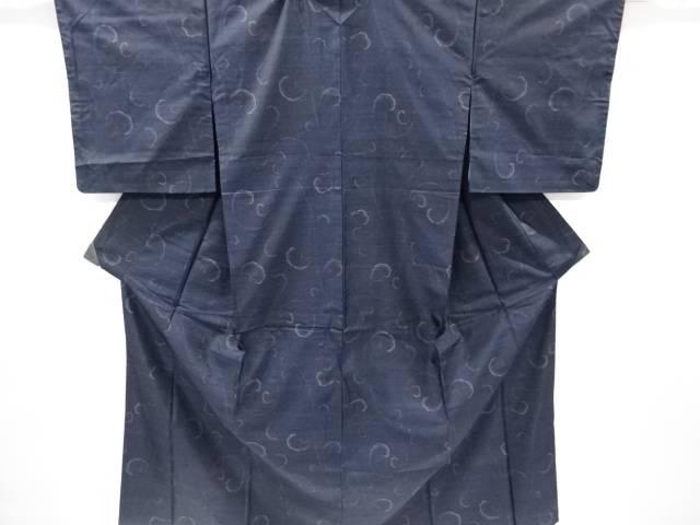 唐草模様織り出し本場泥大島紬着物アンサンブル【リサイクル】【中古】