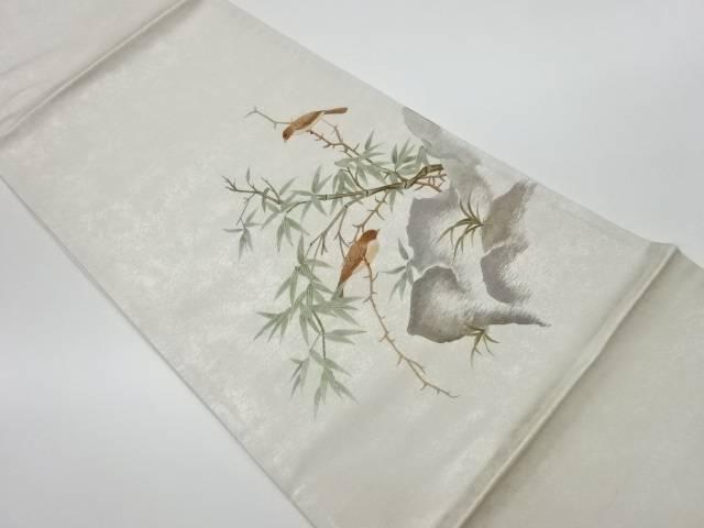 未使用品 蘇州刺繍竹に雀模様袋帯【リサイクル】【中古】