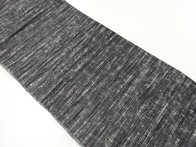 手織り真綿紬織柄リバーシブル袋帯【リサイクル】【中古】