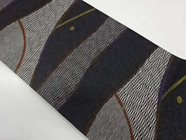 未使用品 抽象模様織出しリバーシブル袋帯【リサイクル】【中古】