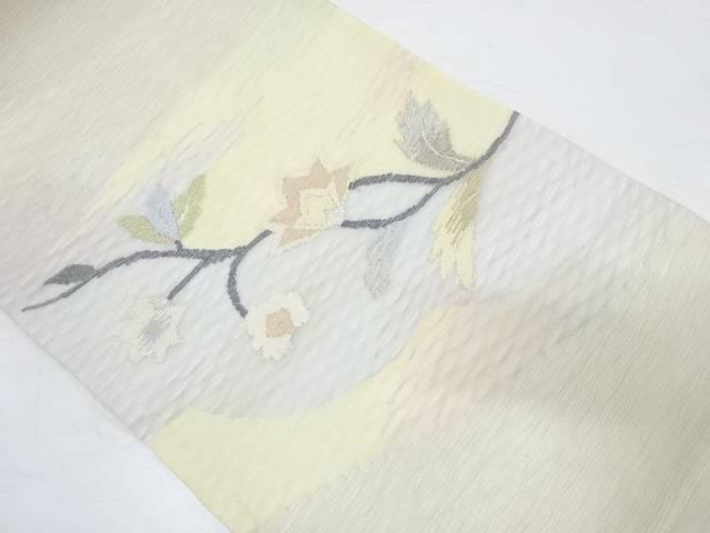 未使用品 すくい織草花模様織出し袋帯【リサイクル】【中古】