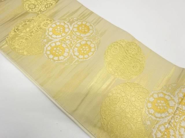 川島織物製 華紋模様織出し袋帯【リサイクル】【中古】