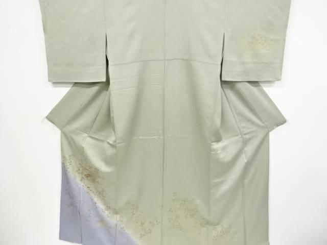 金彩花籠に菊萩草花模様刺繍一つ紋訪問着【リサイクル】【中古】