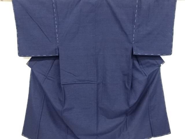 未使用品 幾何学模様織り出し手織り真綿紬男物着物アンサンブル【リサイクル】【中古】