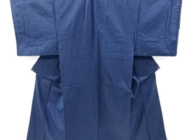 手織り真綿紬男物着物アンサンブル長襦袢セット【リサイクル】【中古】