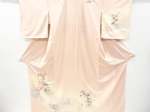 未使用品 仕立て上がり 汕頭蘇州刺繍菊に桔梗模様訪問着