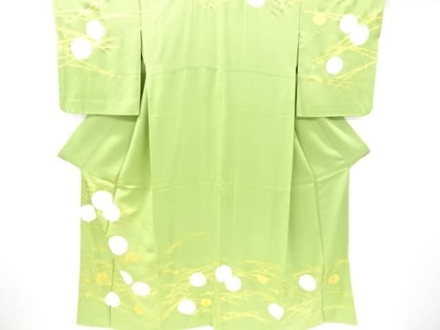 金彩菊に松葉まつぼっくり模様訪問着【リサイクル】【中古】