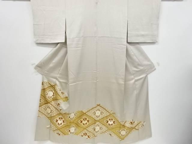 金彩逆雲取りに菱華紋刺繍一つ紋色留袖【リサイクル】【中古】