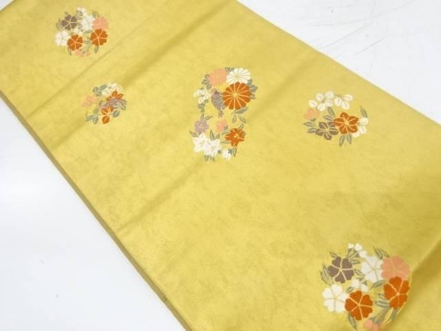 古典金紗漆箔花丸文様織出し袋帯【リサイクル】【中古】