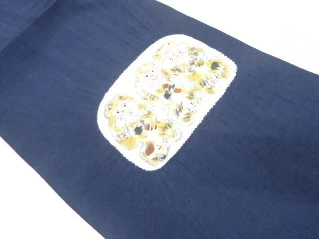 手織り紬絞り見ざる言わざる聞かざる名古屋帯【リサイクル】【中古】