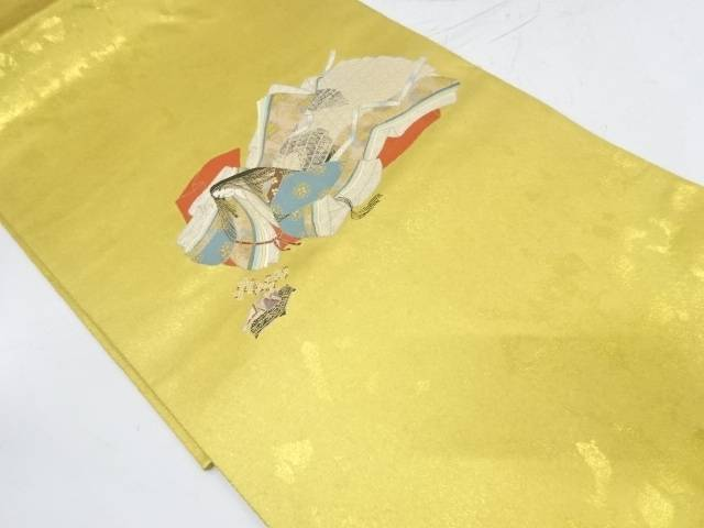 長嶋織物製 本金箔十二単模様織出し袋帯【リサイクル】【中古】