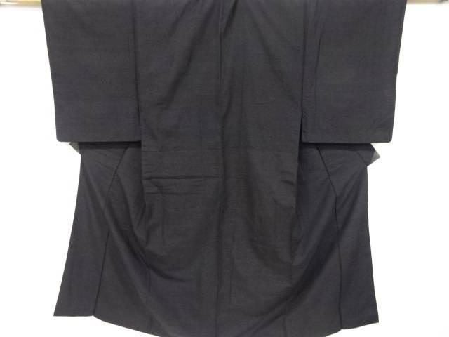 手織り節紬男物着物(重ね衿付き)【リサイクル】【中古】