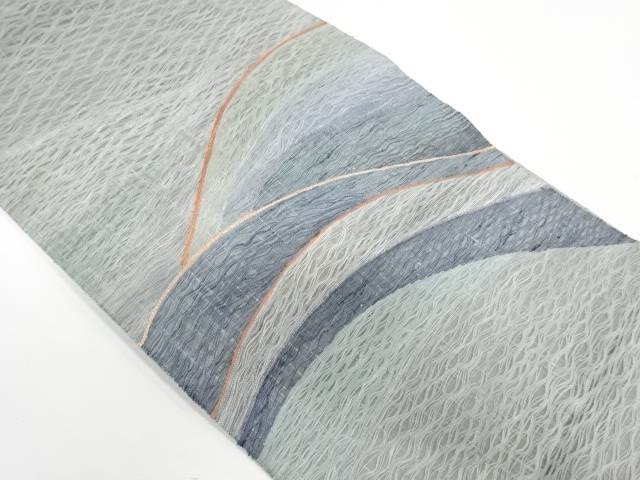 未使用品 すくい織山並み模様織出し袋帯【リサイクル】【中古】