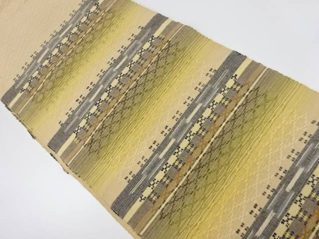 手織紬花織名古屋帯【リサイクル】【中古】