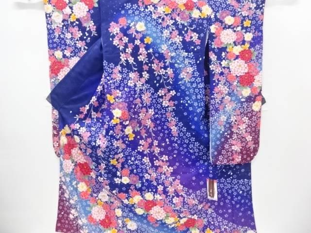 HENRI-LUC CHAPUIS 菊に八重桜模様振袖【新品】