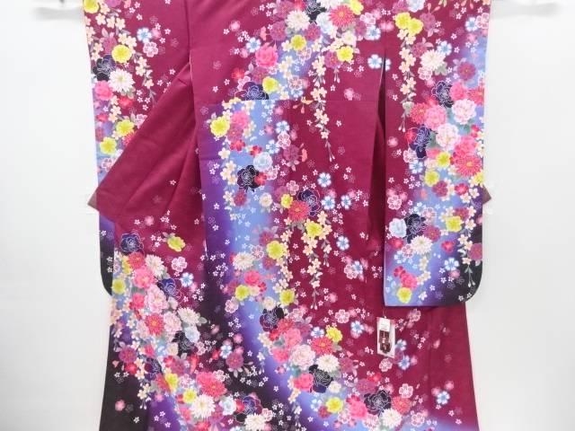 HENRI-LUC CHAPUIS 牡丹に菊・薔薇模様振袖【新品】