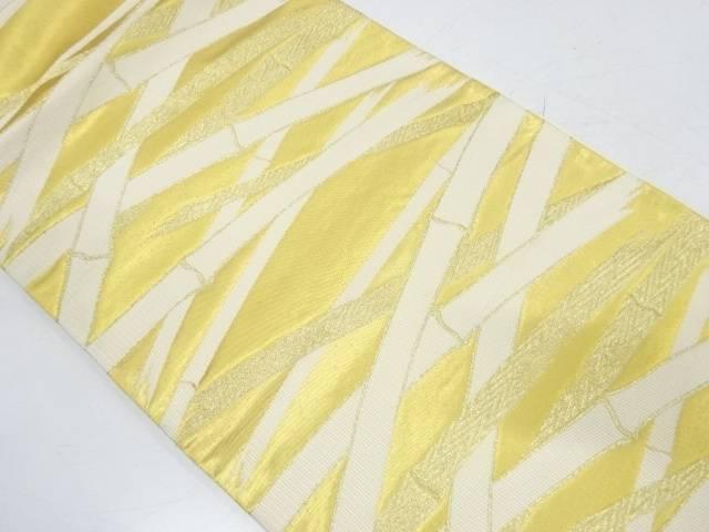 竹模様織出し袋帯【リサイクル】【中古】