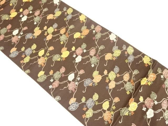 金糸蔦模様織り出し袋帯【リサイクル】【中古】