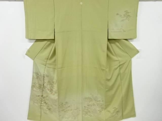 汕頭蘇州刺繍大名行列模様一つ紋訪問着【リサイクル】【中古】