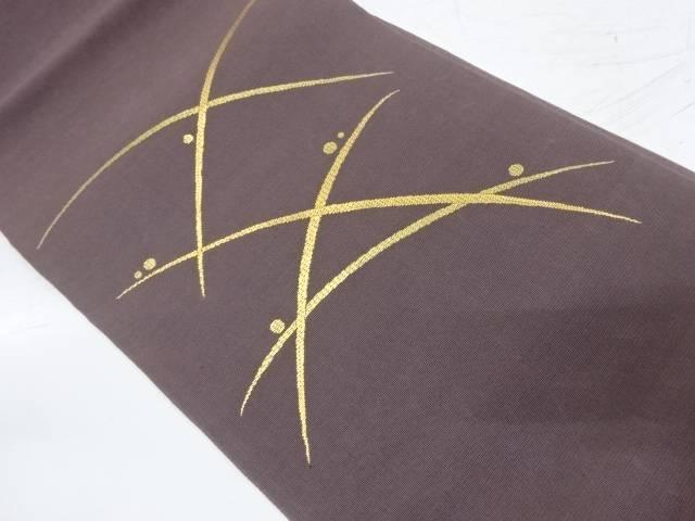 紗 露芝模様織出し袋帯【リサイクル】【中古】