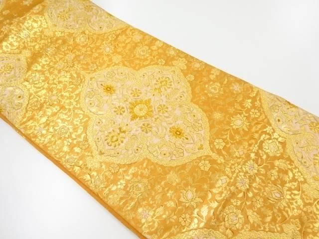 服部織物製オリエント更紗華紋織出し袋帯【リサイクル】【中古】