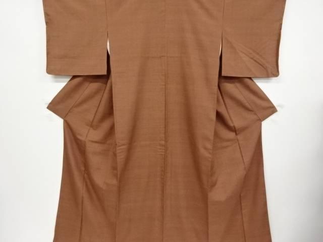未使用品 仕立て上がり 手織り真綿紬着物