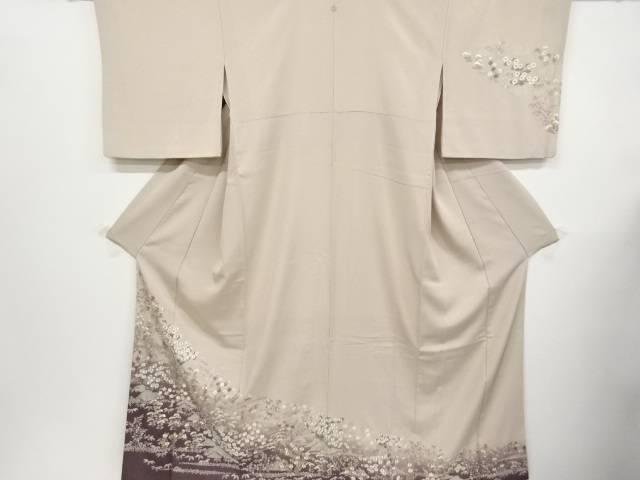 蘇州刺繍菊楓秋草模様一つ紋訪問着【リサイクル】【中古】