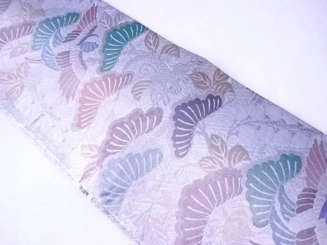 袋帯 松と花鳥文【リサイクル】【中古】