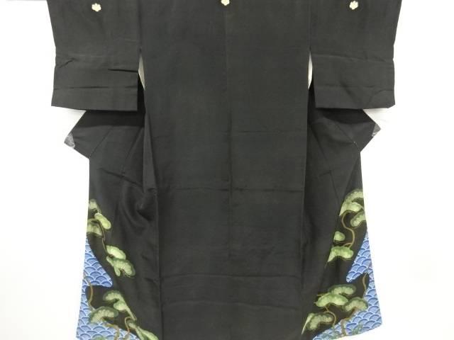 時代衣裳青海波に松模様刺繍留袖【アンティーク】【中古】