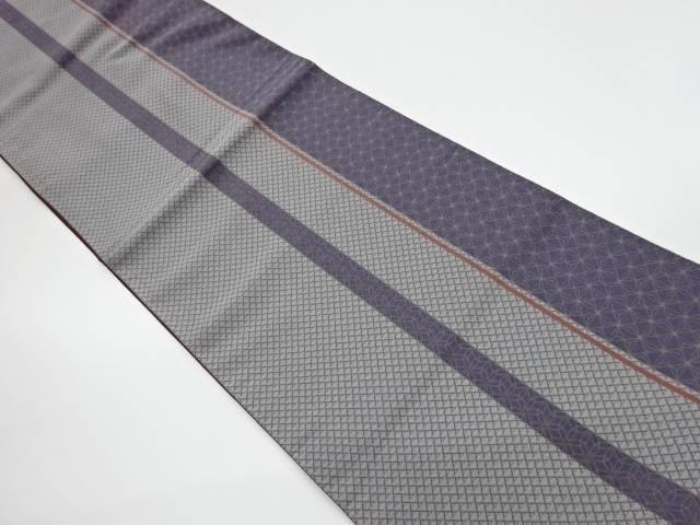 縞模様織出し洒落袋帯【リサイクル】【中古】