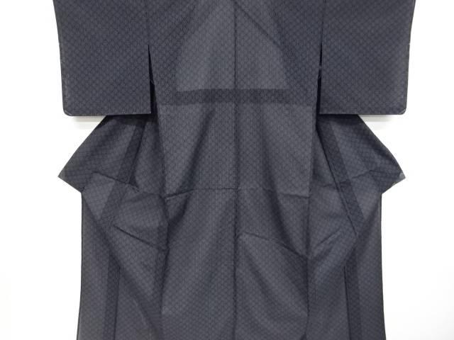 未使用品 仕立て上がり 麻の葉模様織り出し本場夏大島紬着物(7マルキ)