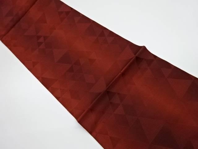 未使用品 鱗紋模様織出し全通洒落袋帯【リサイクル】【中古】