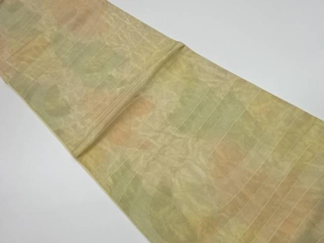 抽象模様織出し洒落袋帯【リサイクル】【中古】