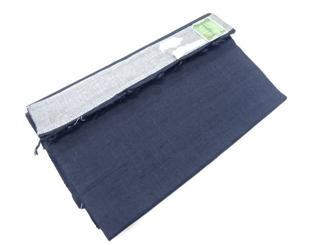 B反 手織り真綿小千谷紬織柄アンサンブル反物【リサイクル】【中古】