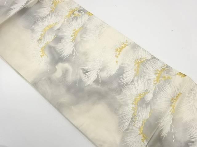 松模様織出し袋帯【リサイクル】【中古】