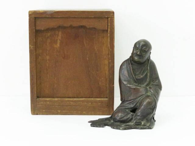 骨董 銅製置物(保護箱付)