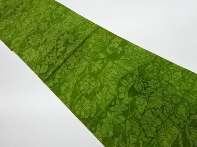 纐纈抽象模様織出し全通洒落袋帯【リサイクル】【中古】