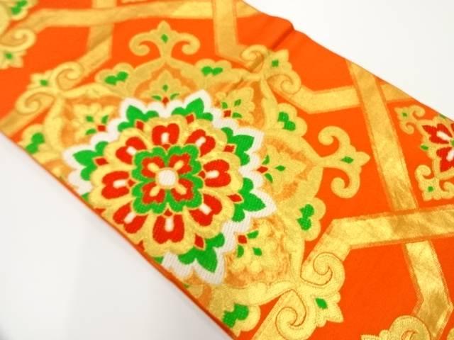 服部織物製 華紋模様織出し袋帯【リサイクル】【中古】
