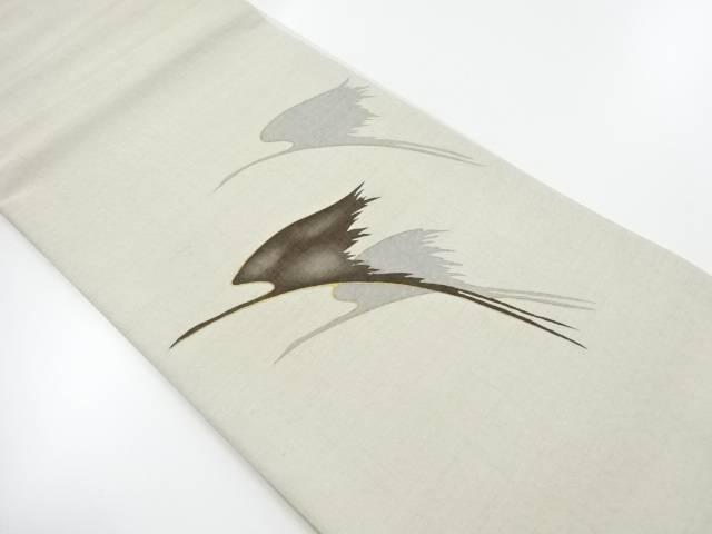 金彩群鶴模様袋帯【リサイクル】【中古】