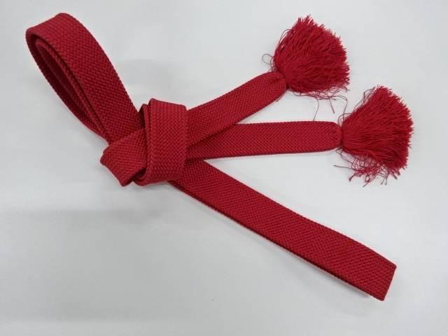 お得 合計3980円以上の購入で送料無料 正絹 手組み帯締め 中古 出色 アンティーク
